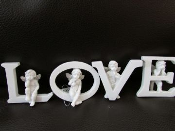 LETTERS with CHERUB DECORATION - LOVE